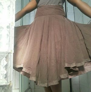 Lilith full skirt Dusty Mauve with Mesh overlay